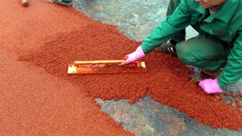 Изготовление покрытия из резиновой крошки своими руками